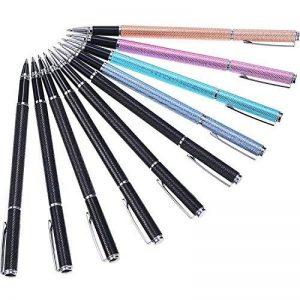 10pièces Mode simple métal Neutre Pen 0,5mm, stylo à encre gel liquide école bureau papeterie Outil d'écriture et Lot de 10recharge d'encre gel de la marque Hestya image 0 produit