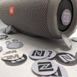 12x NFC Autocollant de PVC rigide, 25mm de diamètre, disque, gris blanc Noir Label Tag, NXP Tagify Ntag213Puce–Véritable Puce développé par NXP Semiconductors, 144octets de mémoire, Mot de passe de vérification protection, lecture/écriture/verrouill image 3 produit