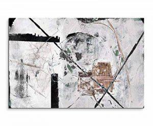 120x 80cm sur toile Impression sur toile d'art décoration murale Blanc Gris Noir Marron ciselé de la marque Paul Sinus Art image 0 produit