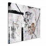 120x 80cm sur toile Impression sur toile d'art décoration murale Blanc Gris Noir Marron ciselé de la marque Paul Sinus Art image 1 produit