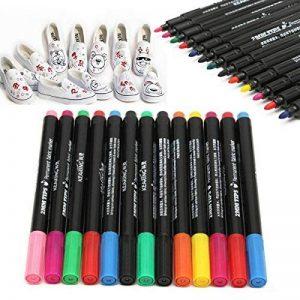 13pcs Tissu Marqueur Stylos Permanent Multicolore pour Bricolage Vêtements T-shirt Chaussures de la marque NaroFace image 0 produit