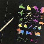 30 Sheets Magic Papiers à Gratter, Shsyue Papiers à Dessin Scratch Paper Papier de Peinture avec 3 Pièces Stylet en Bois et 4 Pièces Règles de Peinture de la marque Shsyue® image 2 produit