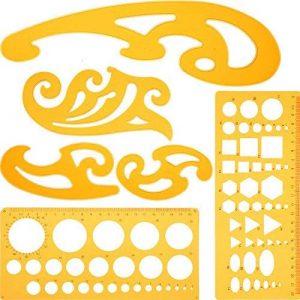 6 Pièces Courbe Française et Règle de Modèle Set Modèle de Dessin Gabarits de Cercle pour Studio Artistique ou Dessin et Dessin Personnel de la marque Blulu image 0 produit