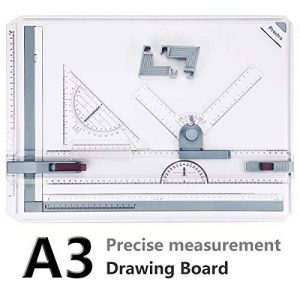 A3 Planche à Dessin, Preciva Drawing Board Metric System 51 x 36.5 cm Table à Dessin avec Mouvement Parallèle, Angle Réglable de la marque Preciva image 0 produit