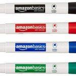 AmazonBasics Marqueurs effaçables à sec Faible odeur - Pointe biseautée - Lot de 8 (Couleurs assorties) de la marque AmazonBasics image 1 produit