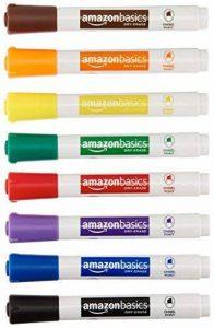 AmazonBasics Marqueurs effaçables à sec Faible odeur - Pointe biseautée - Lot de 8 (Couleurs assorties) de la marque AmazonBasics image 0 produit