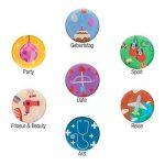 Amazy Calendrier magnétique mensuel avec 4 marqueurs, 7 aimants et un effaceur – Calendrier pour frigo effaçable pour organiser vos mois (Mensuel) de la marque Amazy image 3 produit