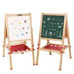 Arkmiido Tableau en bois Chevalet Magnétique Tableau Ardoise Double Face Réglables Multifonction avec Accessoires pour enfants de la marque Arkmiido image 1 produit