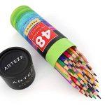 Arteza Crayons De Couleur Aquarelle En Bois avec le nom de couleur imprimé sur chaque crayon - Mine Souple - Forme Triangulaire - Pré-Aiguisé (en Tube de 48) de la marque ARTEZA image 1 produit