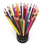 Arteza Crayons De Couleur Aquarelle En Bois avec le nom de couleur imprimé sur chaque crayon - Mine Souple - Forme Triangulaire - Pré-Aiguisé (en Tube de 48) de la marque ARTEZA image 3 produit