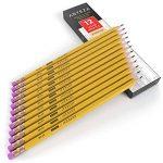 ARTEZA Crayons en Bois-HB N°2- Pré-Aiguisés - Gommes Sans Latex - (Boîte de 180) de la marque ARTEZA image 2 produit