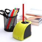 Batterie/Adapteur 2 Trous Taille-Crayon Electronique, Upeffeet Convent Machine à Tailler Les Crayons Ø6-8 / 10-12mm, avec Réserve Amovible, Fonctionne Automatiquement, Pratique pour Paresseux de la marque Upeffeet Convent image 2 produit