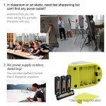 Batterie/Adapteur 2 Trous Taille-Crayon Electronique, Upeffeet Convent Machine à Tailler Les Crayons Ø6-8 / 10-12mm, avec Réserve Amovible, Fonctionne Automatiquement, Pratique pour Paresseux de la marque Upeffeet Convent image 3 produit