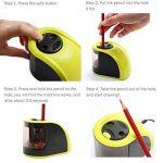 Batterie/Adapteur 2 Trous Taille-Crayon Electronique, Upeffeet Convent Machine à Tailler Les Crayons Ø6-8 / 10-12mm, avec Réserve Amovible, Fonctionne Automatiquement, Pratique pour Paresseux de la marque Upeffeet Convent image 4 produit