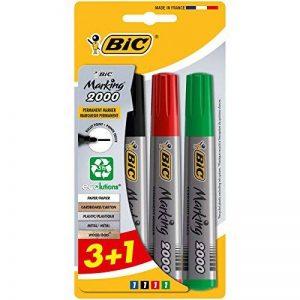 Bic 875575 Marking 2000 ECOlutions Marqueurs Permanents - Couleurs Assorties, Blister de 3+1 de la marque BIC image 0 produit