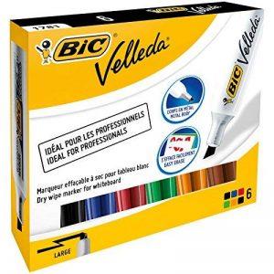 Bic 875788 Velleda 1781 Feutres Effaçables à Sec - Couleurs Assorties, Etui Carton de 6 de la marque BIC image 0 produit