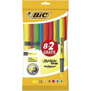 Bic Brite Liner Grip Pack de 10 Surligneurs Couleurs Assorties de la marque BIC image 0 produit