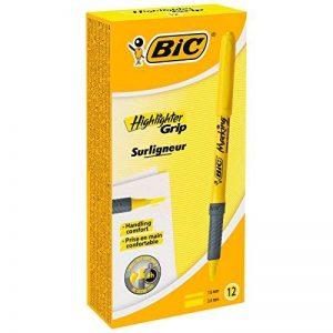 BIC Briteliner Grip Boite de 12 Surligneurs Jaune de la marque BIC image 0 produit