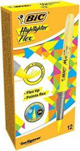 BIC Highlighter Flex Surligneurs - Jaune Fluo, Boîte de 12 de la marque BIC image 0 produit