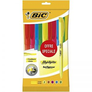 BIC Highlighter Surligneurs - Couleurs Fluo Assorties, Pochette de 10 de la marque BIC image 0 produit