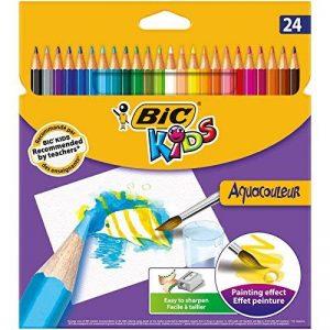 BIC Kids Aquacouleur Crayons de Couleur - Etui Carton de 24 de la marque Bic Kids image 0 produit