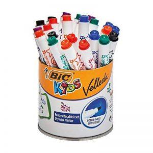 BIC Kids Mini Velleda Feutres Effaçables à Sec - Couleurs Assorties, Pot de 24 Feutres de la marque Bic Kids image 0 produit