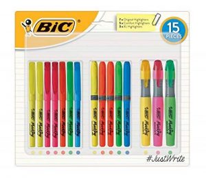 Bic Lot de 15 surligneurs pour étudiant de la marque BIC image 0 produit