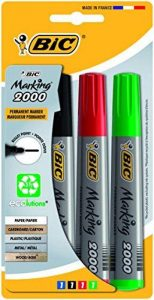 Bic Marking 2000 Blister de 4 Marqueurs Permanents Noir/Bleu/Rouge/Vert de la marque BIC image 0 produit