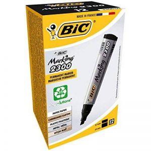 BIC Marking 2300 Ecolutions Marqueurs Permanents - Noir, Boîte de 12 de la marque BIC image 0 produit