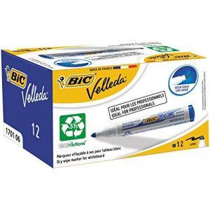 BIC Velleda 1701 Ecolutions Feutres Effaçables à Sec - Bleu, Boîte de 12 de la marque BIC image 0 produit