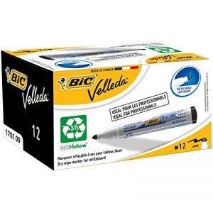 BIC Velleda 1701 Ecolutions Feutres Effaçables à Sec - Noir, Boîte de 12 de la marque BIC image 0 produit