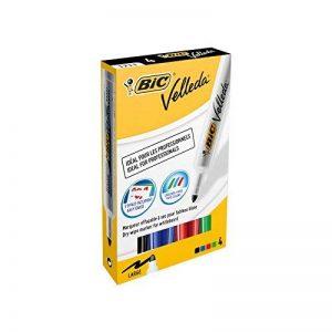 BIC Velleda 1711 Feutres Effaçables à Sec - Couleurs Assorties, Etui Carton de 4 de la marque BIC image 0 produit