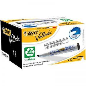 BIC Velleda 1751 Ecolutions Feutres Effaçables à Sec - Noir, Boîte de 12 de la marque BIC image 0 produit