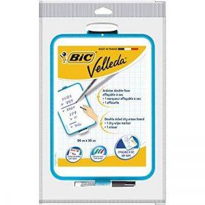 BIC Velleda Ardoise Double Face (24x33 cm) et Feutre Noir Effaçables à Sec - Lot de 1 de la marque BIC image 0 produit