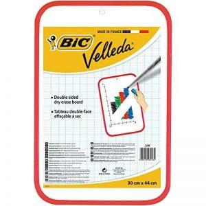 BIC Velleda Tableau Effaçable à Sec Double Face (30x44 cm) - Rouge, Pack de 1 de la marque BIC image 0 produit