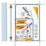 BIC Velleda Tableau Effaçable à Sec Double Face (30x44 cm) - Rouge, Pack de 1 de la marque BIC image 2 produit