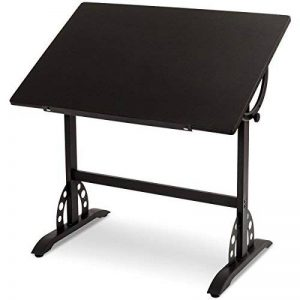 Blitzzauber 24 Table à Dessin Table d'architecte Bureau Table de Bureau Table de Travail Bureau D'art Bureau étudiant Inclinaison Réglable Noir de la marque Blitzzauber 24 image 0 produit
