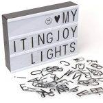 Boîte à LED gratuit Combinaison Immersif Message Board avec 90Noir lettres, chiffres, symboles A4Tailles de la marque NXDRS image 1 produit