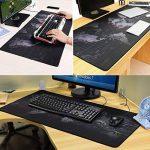 CiMi Tapis de Souris Gaming Grand Tapis Epais Plan de Monde Noir Technique Geek Base en Caoutchouc Anti-Glissant Surface Texturée pour Bureau Office Souris Laser Optique 90x40CM de la marque CiMi image 1 produit
