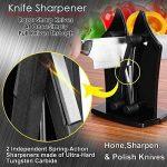 Couteau de cuisine Aiguiseur Aiguiseur manuel par Tripsky, couteau Sharpeners Aiguise, Affûte et Polit dentelé, biseauté, lames Standard de la marque Tripsky image 4 produit