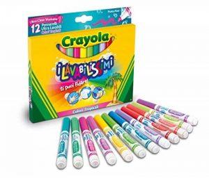 Crayola–58–8335–Les lavabilissimi 12marqueurs, Pointe Maxi, Couleurs Tropicales de la marque Crayola image 0 produit