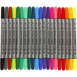 Creativ - 20 marqueurs pour tissu textile - Double pointe de la marque Creativ image 0 produit