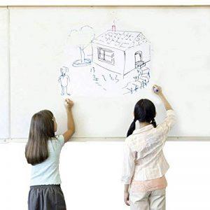 Cusfull Autocollant Tableau /Effaçable Auto-adhésif Sticker Blackboard Stickers muraux multiusage pour la chambre d'enfant, cuisine, salon, bricolage, restaurants, couloir, frigos etc (90*200, blanc) de la marque image 0 produit