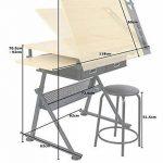 Display4top Hauteur réglable Table à Dessin Beaux-Arts, cours de travail, les architectes/ingénierie, DE Peinture et de divers travaux manuels de la marque Display4top image 1 produit