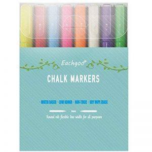 Eachgoo Marqueurs Craie 3mm Pointe Fine Lot de 8 couleur Effacable Feutre Craie de la marque Eachgoo image 0 produit