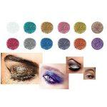 F-blue Visage POPFEEL surligneur Paillettes métalliques Maquillage Shimmer Paillettes Ombre à paupières Nail Paillettes Kit 12PCS de la marque F-blue image 3 produit