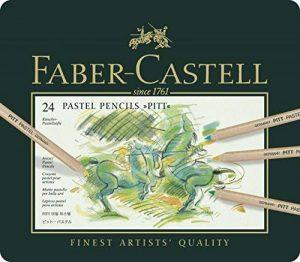 Faber-Castell 112124 Crayon PITT PASTEL boîte métal de 24 pièces de la marque Faber-Castell image 0 produit