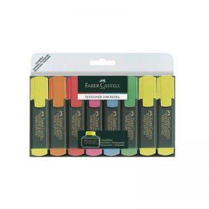 Faber Castell 154862 Lot de 8 surligneurs TEXTLINER 48 Promo (Vert/orange/rose/bleu/rouge/3 x jaune) (Import Allemagne) de la marque Faber-Castell image 0 produit