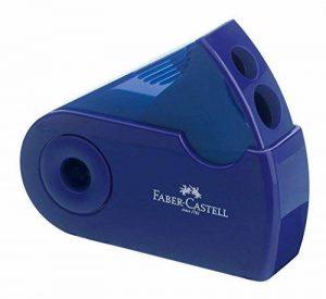 Faber-Castell 182701–Double taille-crayon, couleurs assorties en rouge et bleu–Pas de choix de couleur possible de la marque Faber-Castell image 0 produit