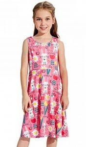 Funnycokid Petite Fille Robes de Fleur D 'est de Votre Ressort Est Imprimé Patineuse sans de la marque Funnycokid image 0 produit